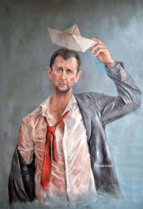 Bashar al-Assad als vluchteling. © Abdalla Al Omari