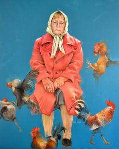Angela Merkel als vluchteling. © Abdalla Al Omari