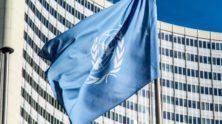Vlag Verenigde Naties - Humanity House